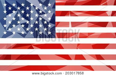 Creative fresh American national symbol illustration with glass effect