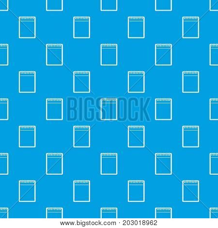 Blank spiral notepad pattern repeat seamless in blue color for any design. Vector geometric illustration