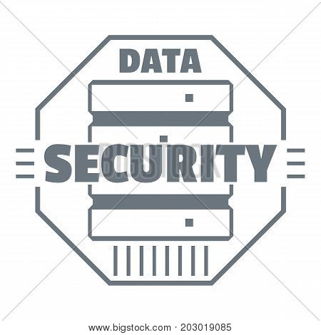 Personal data security logo. Simple illustration of personal data security vector logo for web design isolated on white background