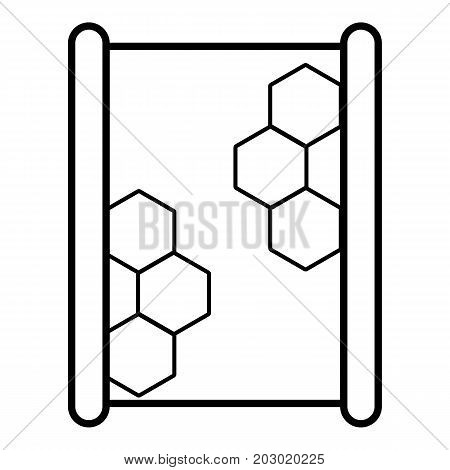 Honeycomb on wood icon. Outline illustration of honeycomb on wood vector icon for web design isolated on white background