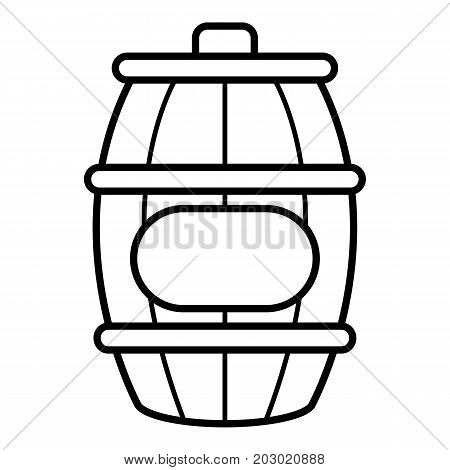 Honey barrel icon. Outline illustration of honey barrel vector icon for web design isolated on white background