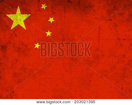 illustration of China flag background on the occasion of China National Day
