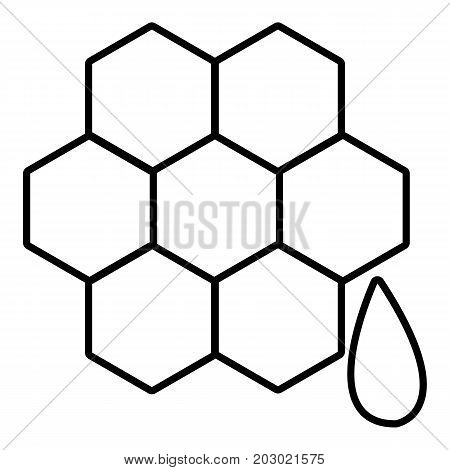 Honeycomb icon. Outline illustration of honeycomb vector icon for web design isolated on white background
