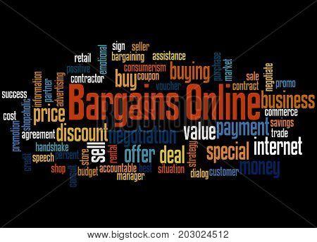 Bargains Online, Word Cloud Concept 3