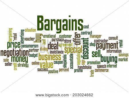 Bargains, Word Cloud Concept 5