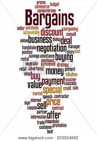 Bargains, Word Cloud Concept 6