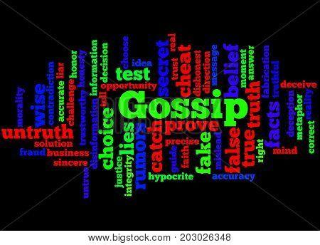 Gossip, Word Cloud Concept 2