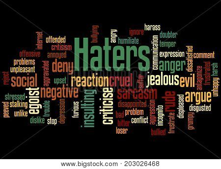 Haters, Word Cloud Concept 2