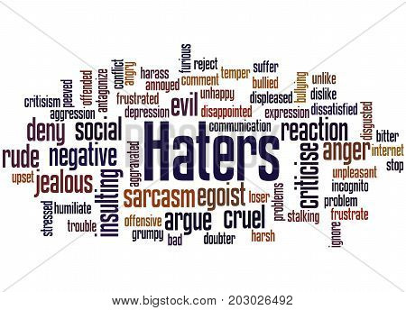 Haters, Word Cloud Concept 4