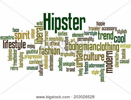 Hipster, Word Cloud Concept