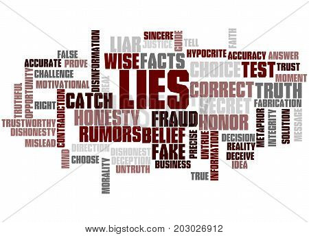 Lies, Word Cloud Concept
