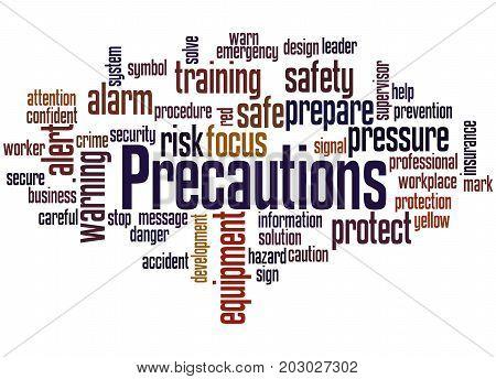 Precautions, Word Cloud Concept 2