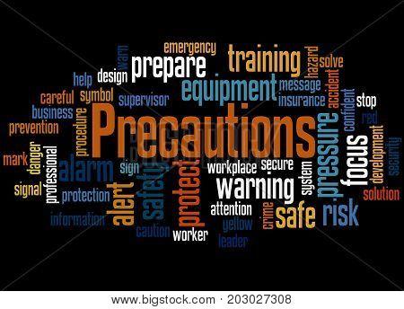 Precautions, Word Cloud Concept 3