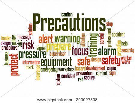 Precautions, Word Cloud Concept 4