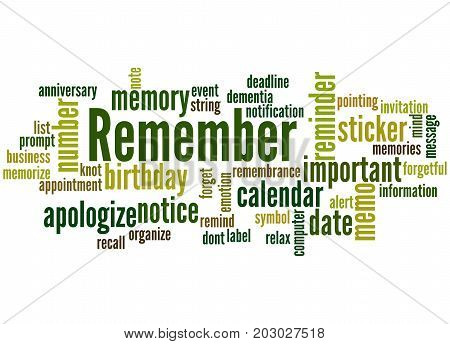 Remember, Word Cloud Concept 4
