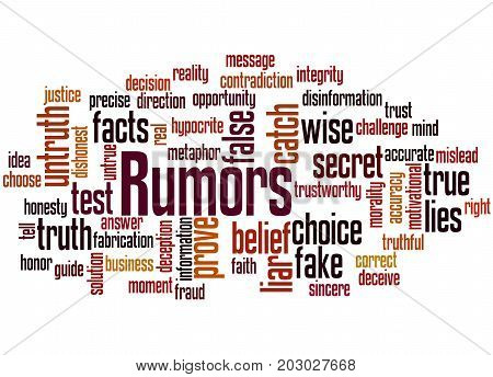 Rumors, Word Cloud Concept