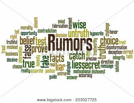 Rumors, Word Cloud Concept 5