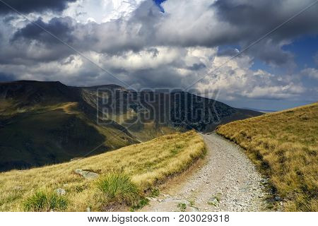 Off road track in the mountains