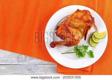 Grilled Juicy Chicken With Golden Crust