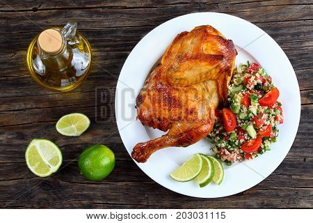 Grilled Juicy Chicken And Couscous Salad