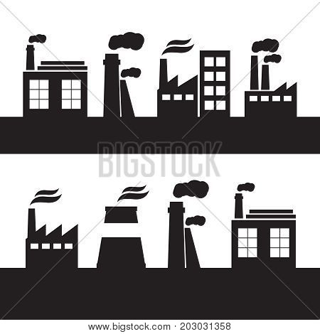 Industrial Landscape And Hand Drawn Cityscape. Business District