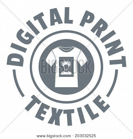 Digital print textile logo. Simple illustration of digital print textile vector logo for web design isolated on white background