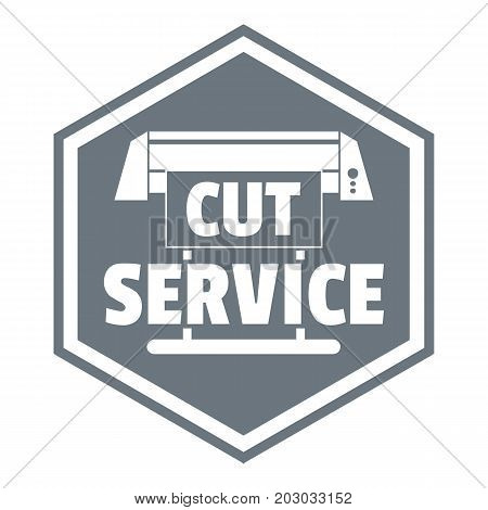 Cut service logo. Simple illustration of cut service vector logo for web design isolated on white background