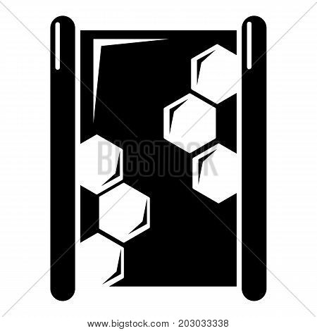 Honeycomb wood icon . Simple illustration of honeycomb wood vector icon for web design isolated on white background