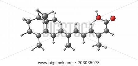 Isotretinoin Molecular Structure Isolated On White