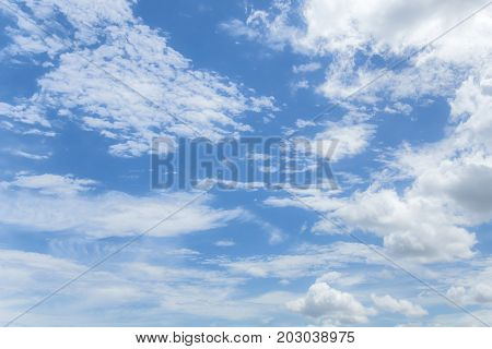 Clouds on the blue sky for background usage.