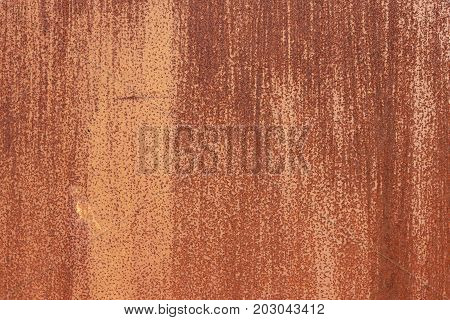 Rusty Paint Wall Texture. Blank Clean Corroded Surface. Scratches And Cracks. Brush Strokes.