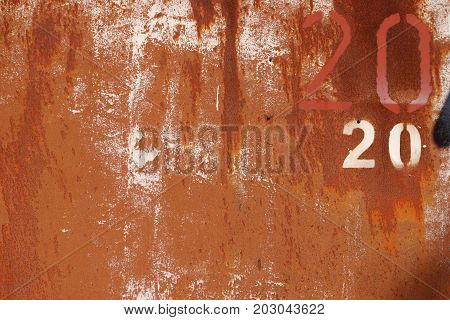 Rusty Paint Wall Texture. Number 20. Scratches And Cracks.