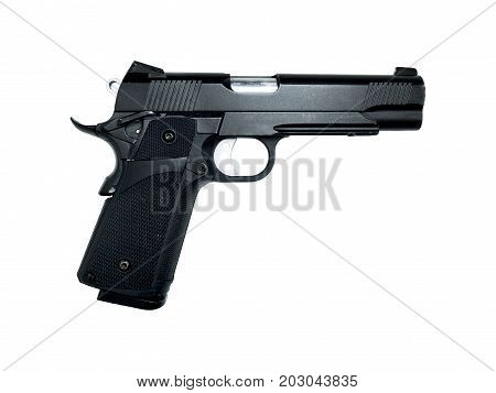 Gun model isolated on white background with clipping path
