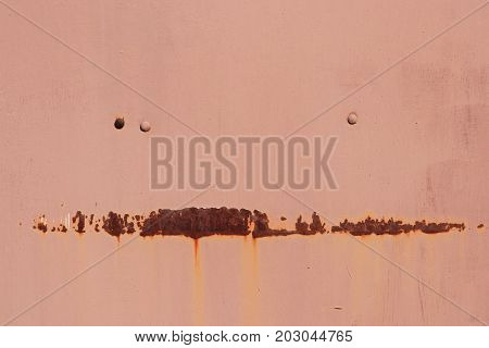 Rusty Paint Wall Texture. Rivets.