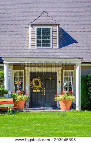A nice entrance of a house.