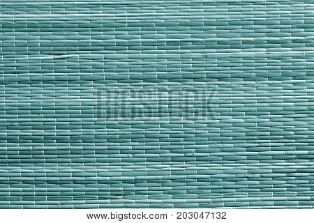 Cyan Color Straw Mat Surface.