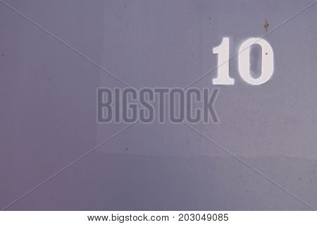 Gray Painted Wall Texture. Number 10. Grunge Urban Background.