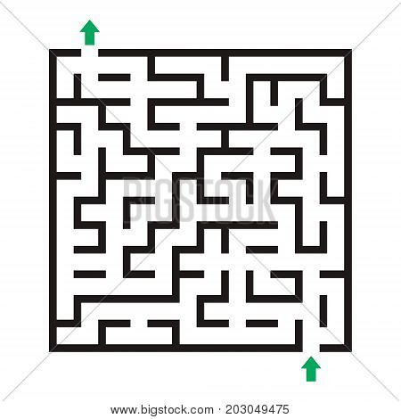 Vector labyrinth. Maze Labyrinth with entry and exit.