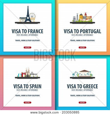 Visa To France, Portugal, Spain, Greece. Document For Travel. Visa Application Centre.