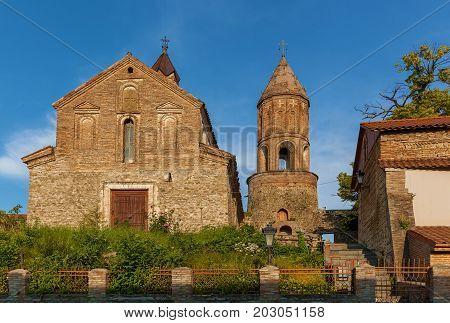 St. George's Church in Sighnaghi city at Kakheti region in Georgia. It is City of Love in Georgia