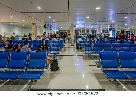 HO CHI MINH, VIETNAM - NOV 12, 2016: Tan Son Nhat airport , Ho Chi Minh city, Vietnam. High, Best royalty free stock image,  high resolution