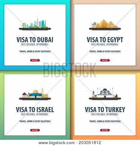 Visa To Dubai, Uae, Egypt, Israel, Turkey. Document For Travel. Visa Application Centre.