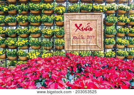 Royalty high quality free stock image aerial view of Decoration item for Lunar new year with text