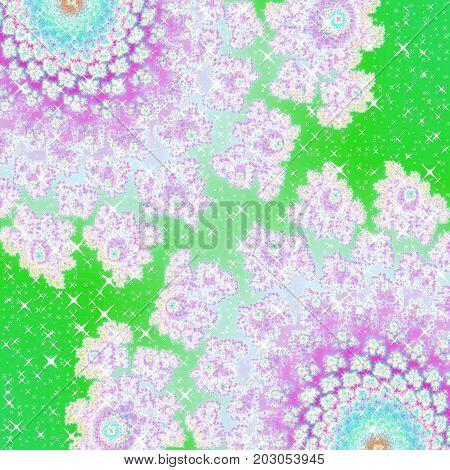 Sparkling stars with floral femine festive motif image