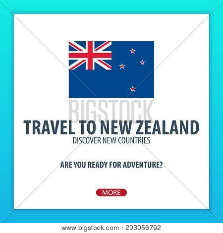 Travel To New Zealand. Discover And Explore New Countries. Adventure Trip.