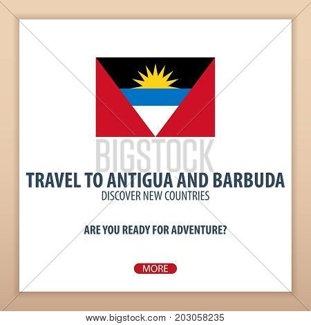 Travel To Antigua And Barbuda. Discover And Explore New Countries. Adventure Trip.