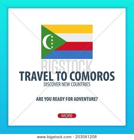 Travel To Comoros. Discover And Explore New Countries. Adventure Trip.