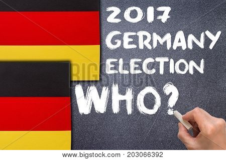 Election 2017, Germany On The Chalk Board.