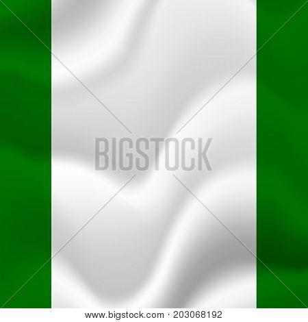 Rhodesia waving flag. Waving flag. Vector illustration.