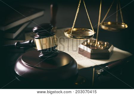Court Gavel, Scale Of Justice, Law Theme